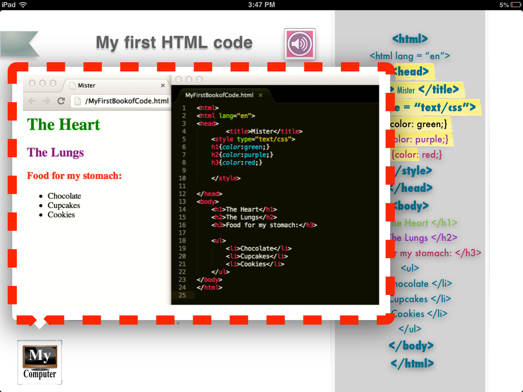 My First Book of Code html